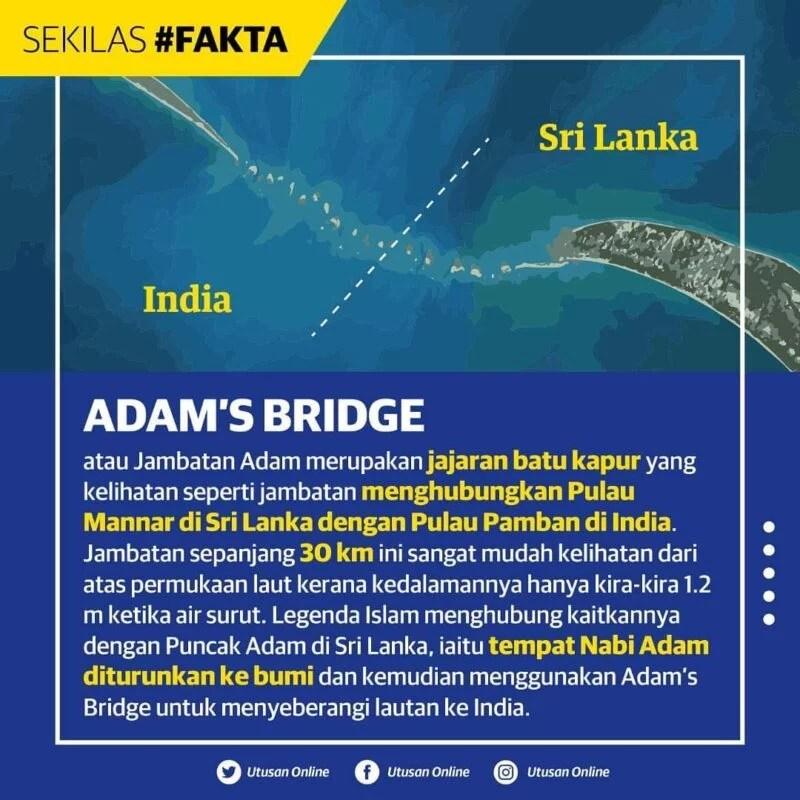 adam's bridge utusan facts islam