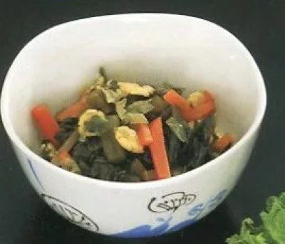 新潟県郷土料理②塩漬け菜っ葉の煮物「煮菜」