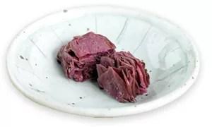 京都漬物ランキング③柴漬け~赤紫があざやか。ポリポリとした歯ごたえも魅力!~