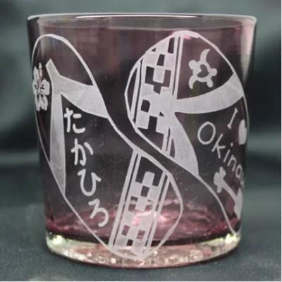 沖縄県お土産ランキング⑧世界に1つだけ、ネーム入り琉球ガラス