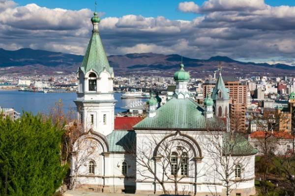函館教会ランキング①日本で最初のロシア正教*ビザンチン様式の「ハリストス正教会」