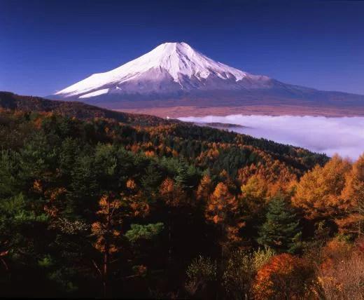 富士山絶景撮影ポイント④朝焼けと紅葉のダブルコンボが最強!二十曲峠広場
