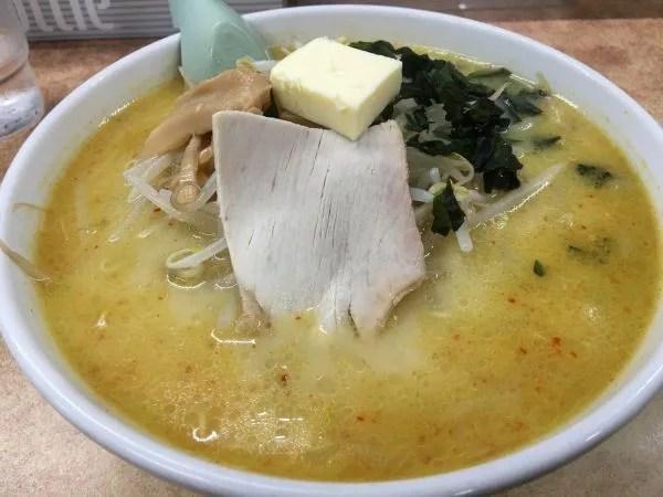 青森県ラーメンランキング⑦やっぱり青森名物は外せない!味噌カレー牛乳ラーメン 大西