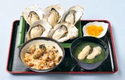 松島牡蠣料理ランキング②さかな市場で牡蠣!焼がきハウス