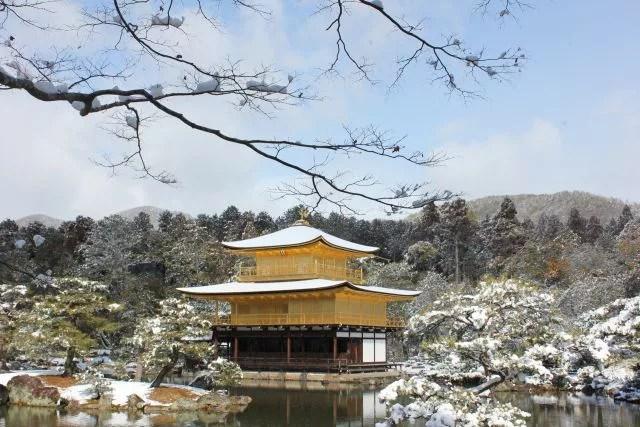 京都絶景撮影スポット③雪が降ったら絶対チャンス!金閣寺