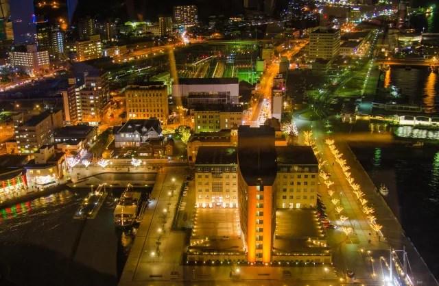 福岡県イルミネーションランキング③レトロな港町の雰囲気たっぷり「門司港レトロ」