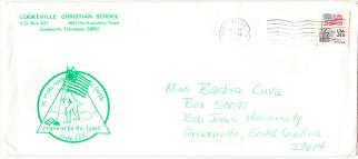 Oct 1983 letter envelope