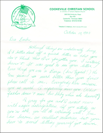 Oct 1983 letter page 1