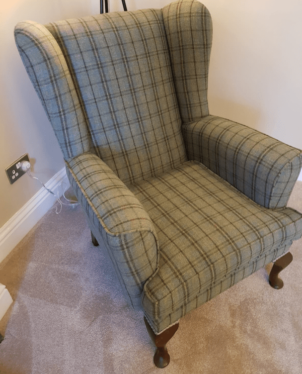 Chair in Linwood Tartan