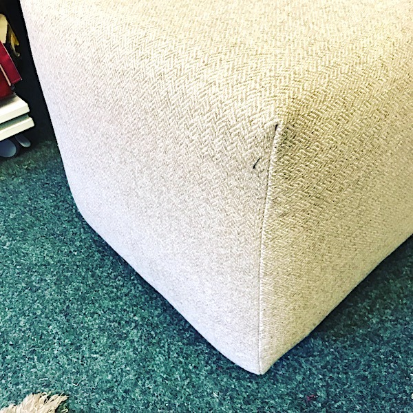 Cube Footstool - side