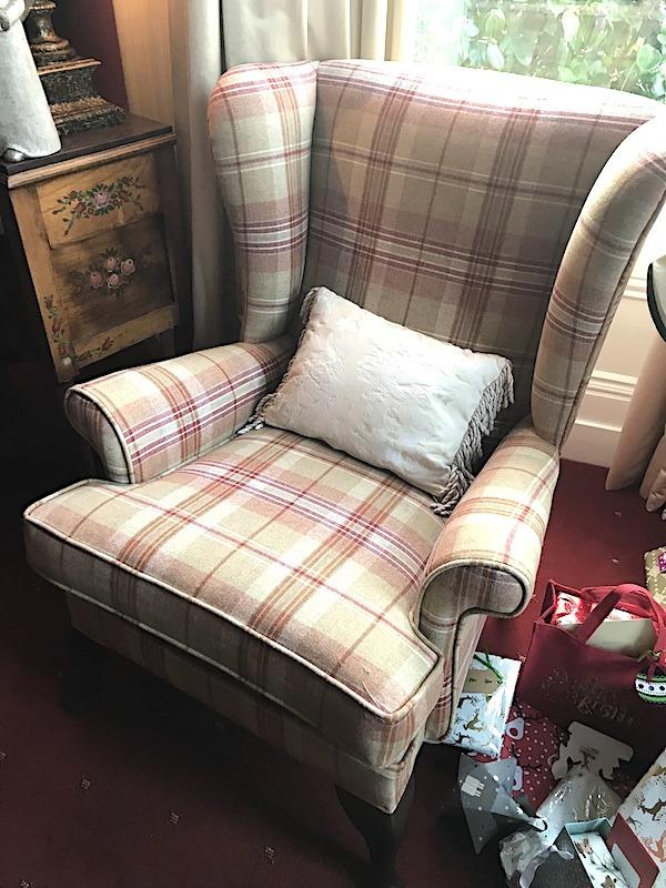 Fireside Chairs-Linwood tartan