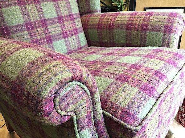 Wool Fireside Chair