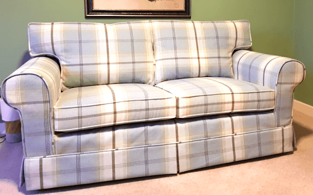 Ikea Sofa in Blue Plaid
