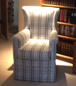 Here Is An Example Of An Interesting Occasional Chair Restored And  Reupholstered For A Small Study Or Library.
