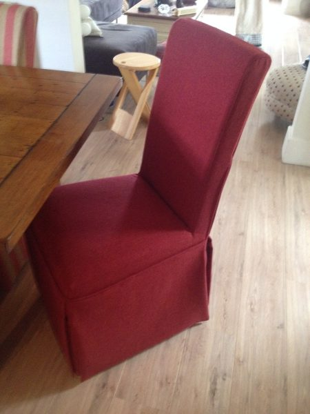 Loose cover kitchen chair Red
