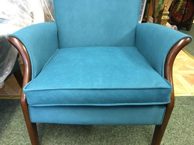 Pair Retro Chairs In Blue Aquclean