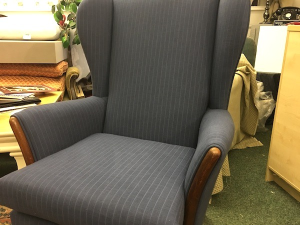 Wing Chair - blue