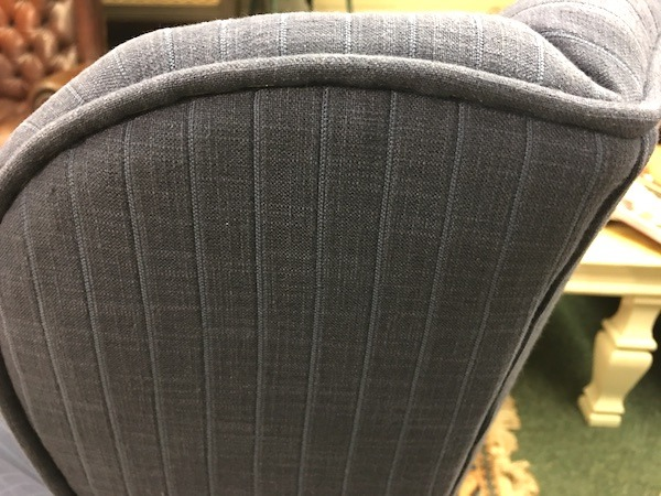 Wing chair - blue wing detail