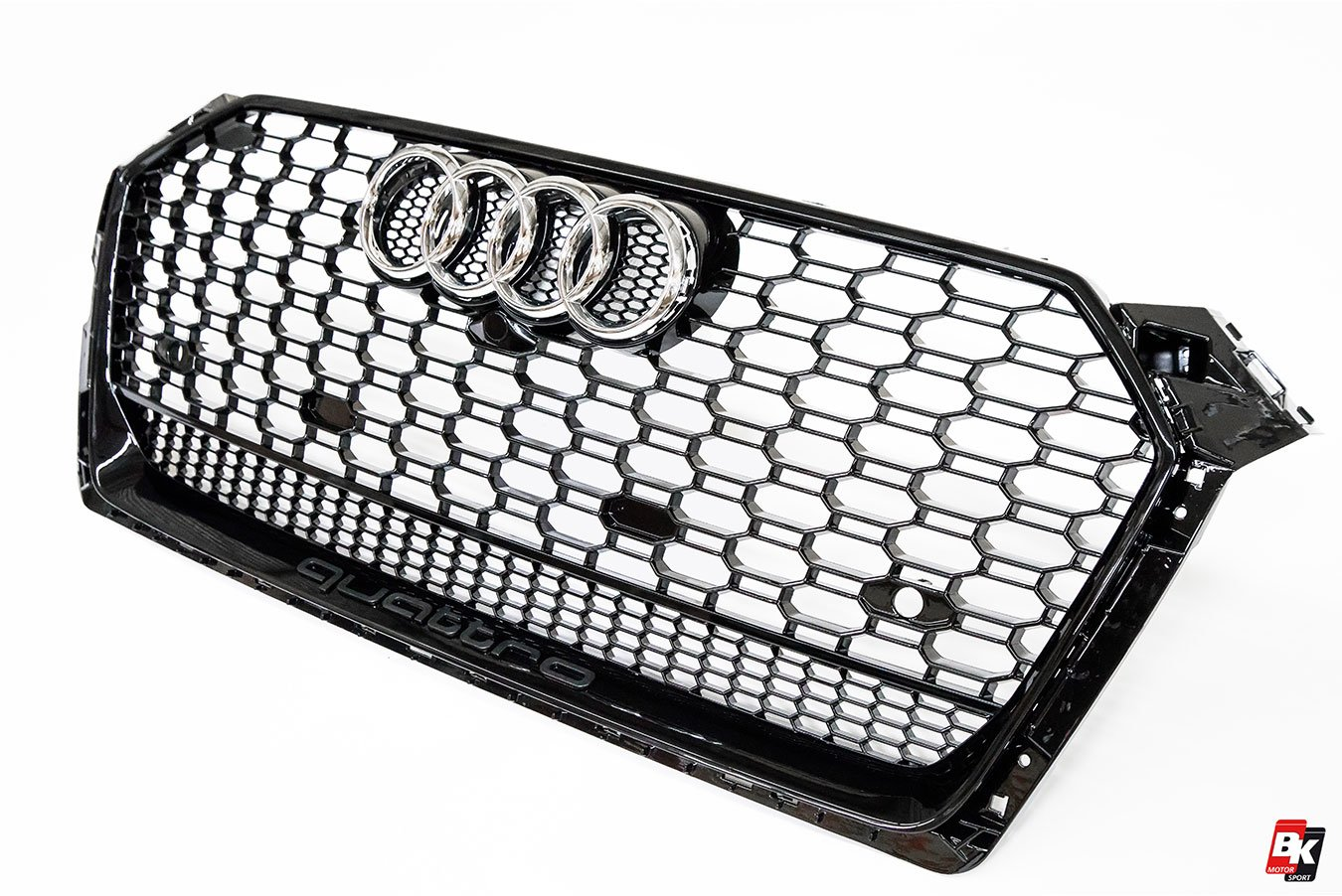 BKM Front Grille with Black Frame (RS5 Style), fits Audi