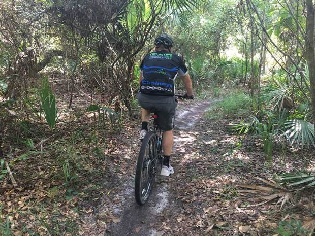 mountain bike hike