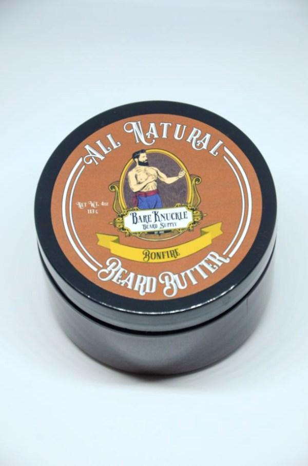 All Natural Beard Butter Cap On - Bonfire
