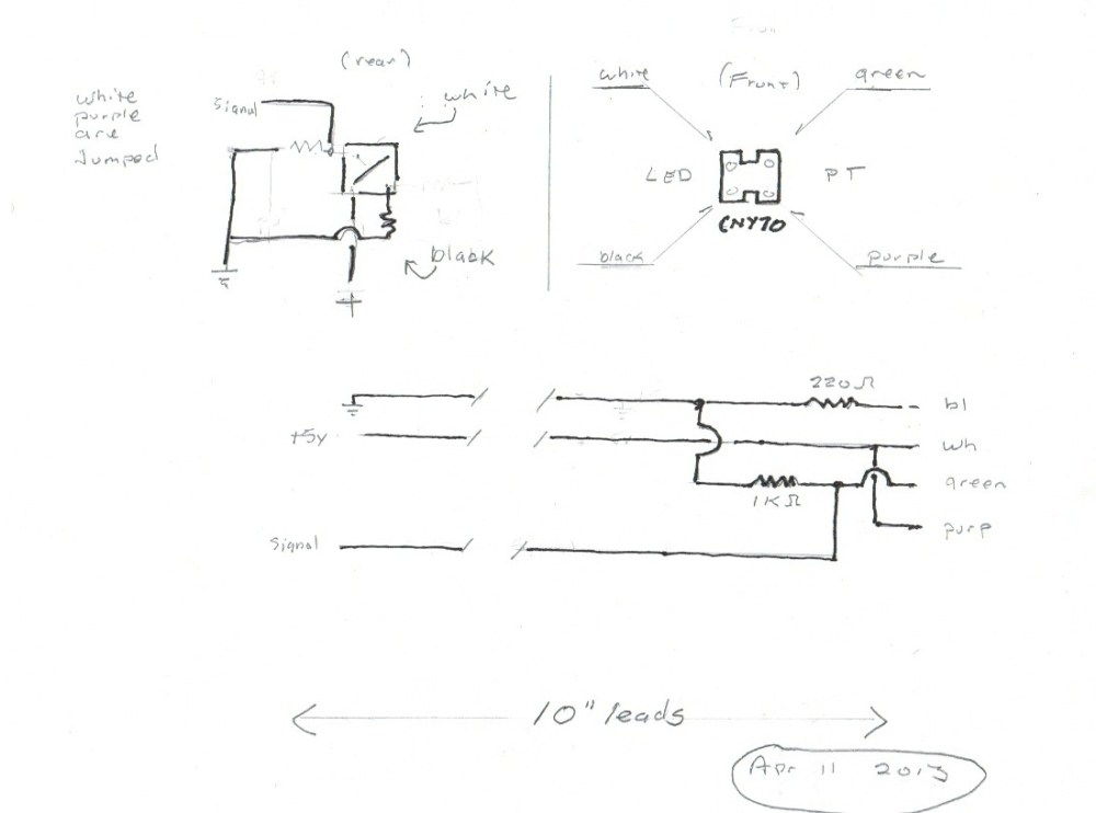 medium resolution of ir detector wiring quick sketch showing 10 leads to back of sensor