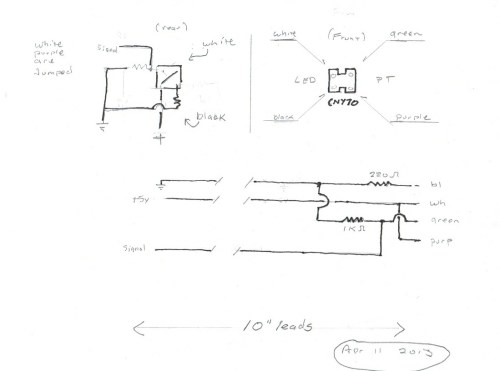 small resolution of ir detector wiring quick sketch showing 10 leads to back of sensor
