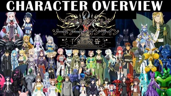 AW & SAO Character Overview | BK Brent's Game Guides
