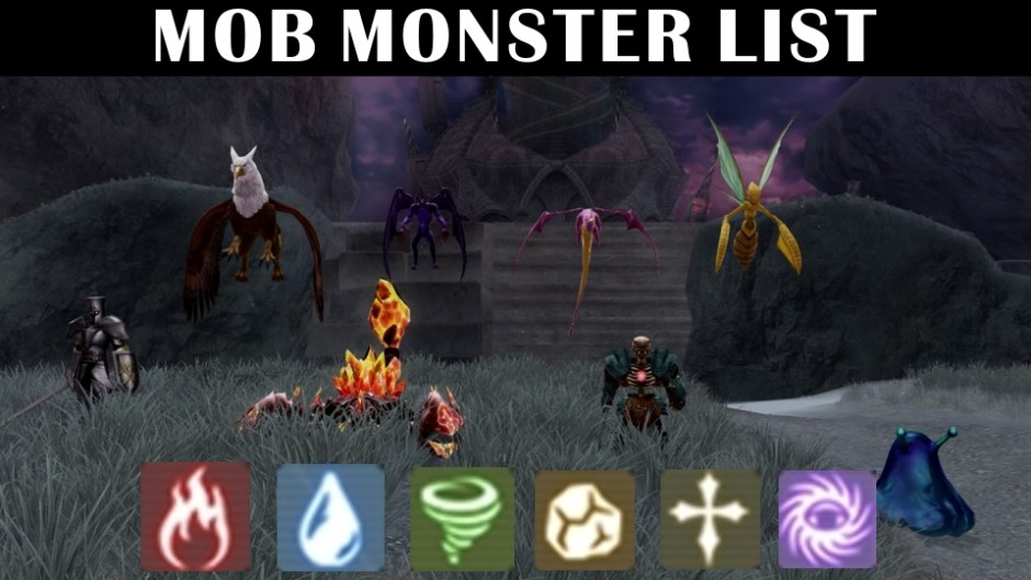 Mob Monster List – BK Brent's Game Guides