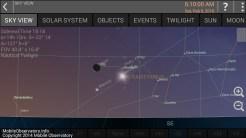 Sat Feb 6 Moon with Venus and Mercury
