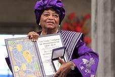 PAGE D'HISTOIRE : Hélène JOHNSON Prix nobel de la paix en 2011 et première femme présidente en afrique.