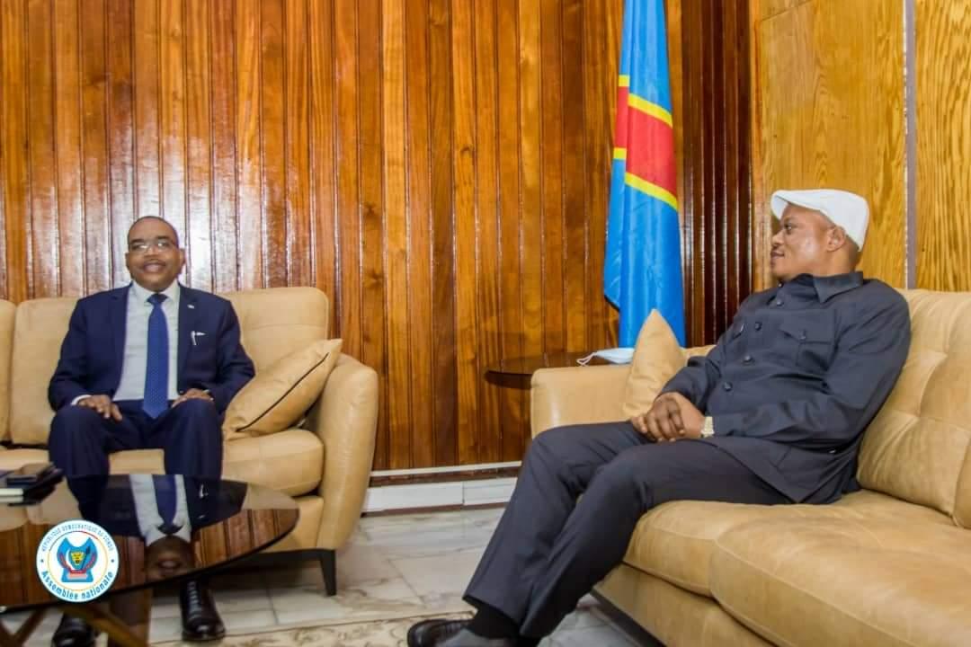 Kinshasa : Théo NGWABIDGE  parle de paix et sécurité de sa province avec les représentants de la chambre basse du parlement congolais.