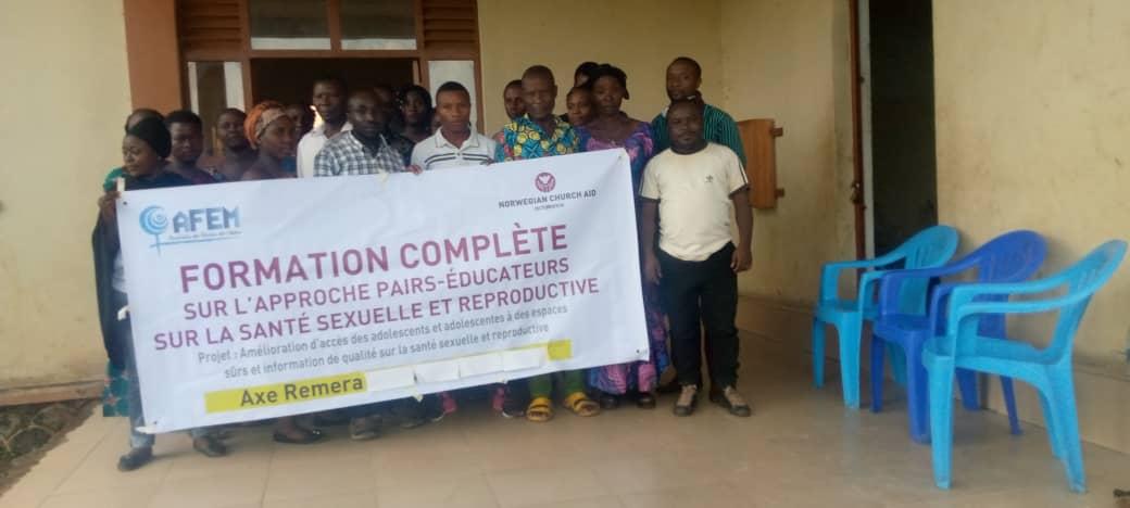 Nord-kivu / Rutchuru : AFEM forme les pairs éducateurs sur la réduction sur le risque lié aux accouchements précoces