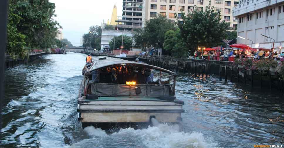 Водная маршрутка по каналам Бангкока. Общественный транспорт