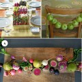 Using fruits vegetables as centerpieces brooklyn bride modern