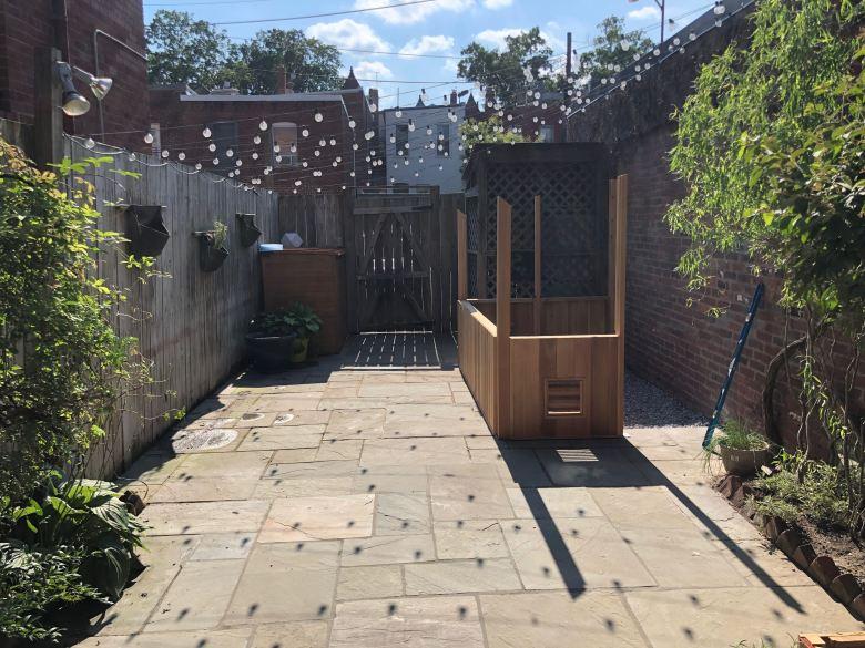 Refinished back yard