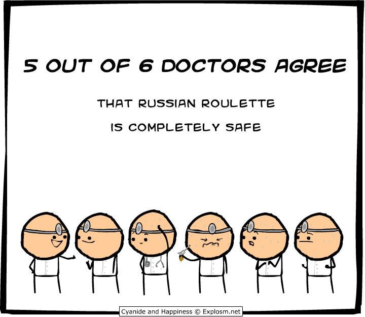 5 out of 6 doctors agree