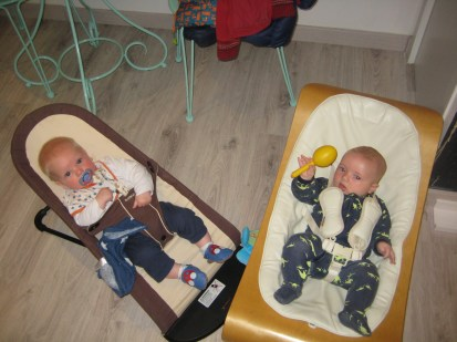 Max and Luca chilled on the side.