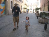 This time Brendan and Nora were just racing in the streets.