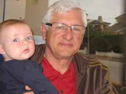Grandpa's turn with Max.