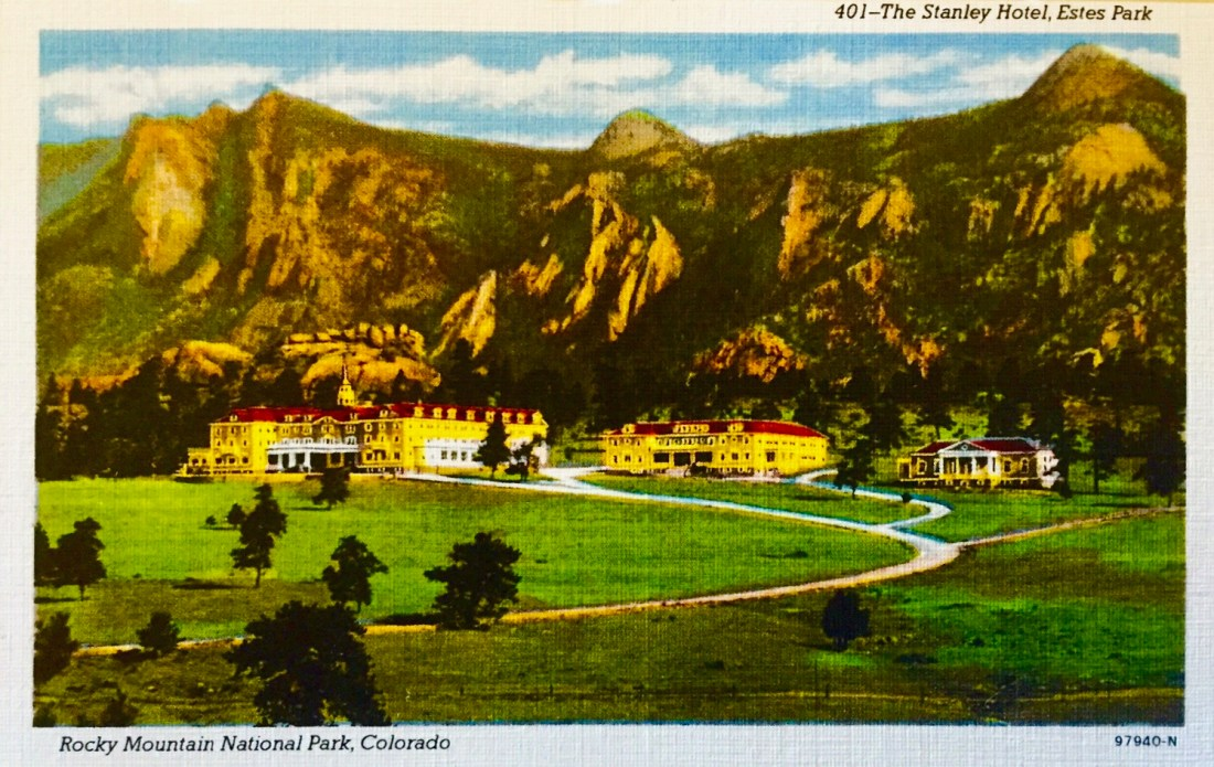 Postcard depicting The Stanley Hotel, Estes Park