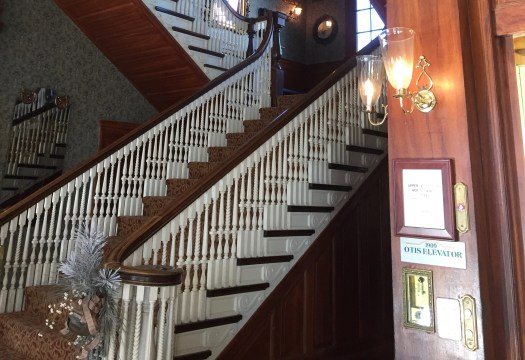 Stairs in The Stanley Hotel (Photo © 2018 Sonja Lessley)