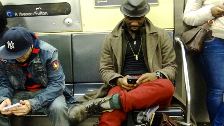 """Meet Isaac, a musician from Brooklyn. He was on the A train headed home. He said he felt he looked """"bummy."""" But I begged to differ."""