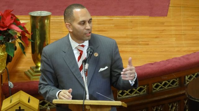 Congressman Hakeem Jeffries (NY-8) speaks at the Inaugural Ceremony of City Councilmember Robert E. Cornegy, Jr., 36th District