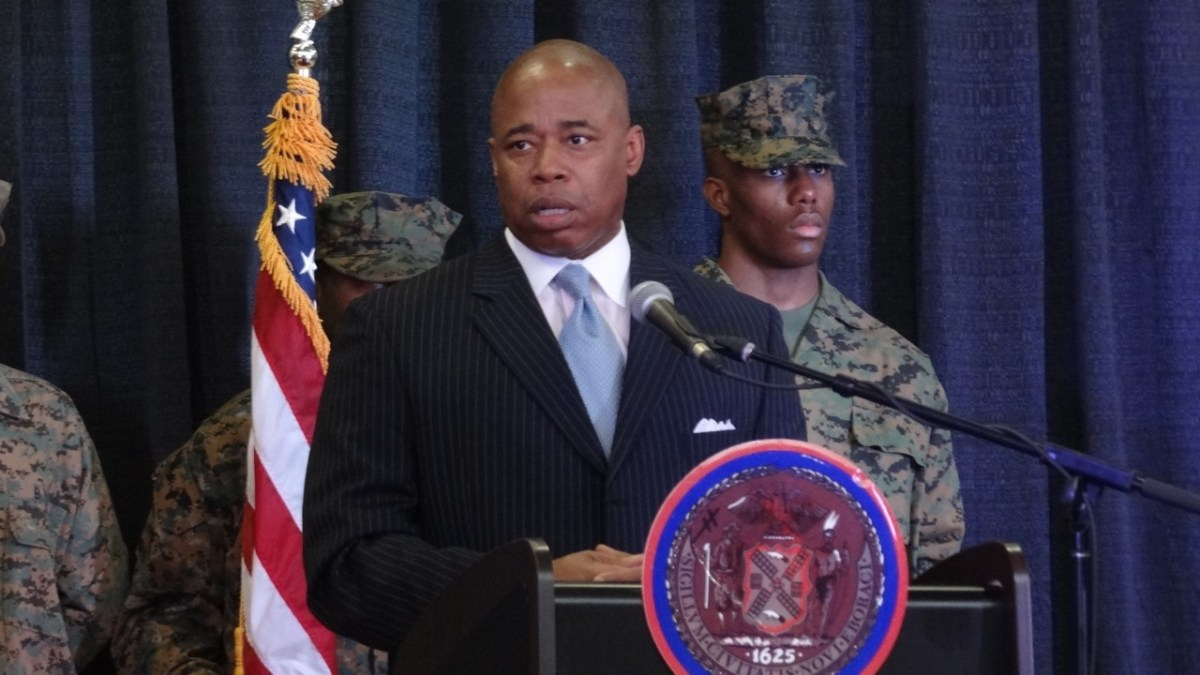 Brooklyn Borough President Eric Adams speaking at the Inauguration Ceremony of Laurie Cumbo (D-35)