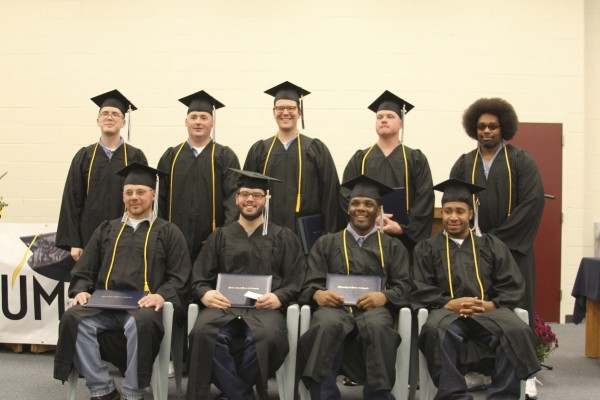 Nine inmates graduated with associate and bachelor's degrees from an in-prison college program  Photo: Heather Steeves   BDN