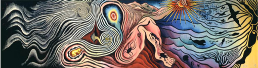 A painting byy Judy Chicago