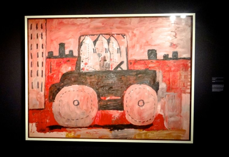 """""""Witness: Art and Civil Rights in the Sixties,"""" at the Brooklyn Museum Philip Guston, City Limits, (1969). Oil on canvas. The Museum of Modern Art, New York, gift of Musa Guston."""