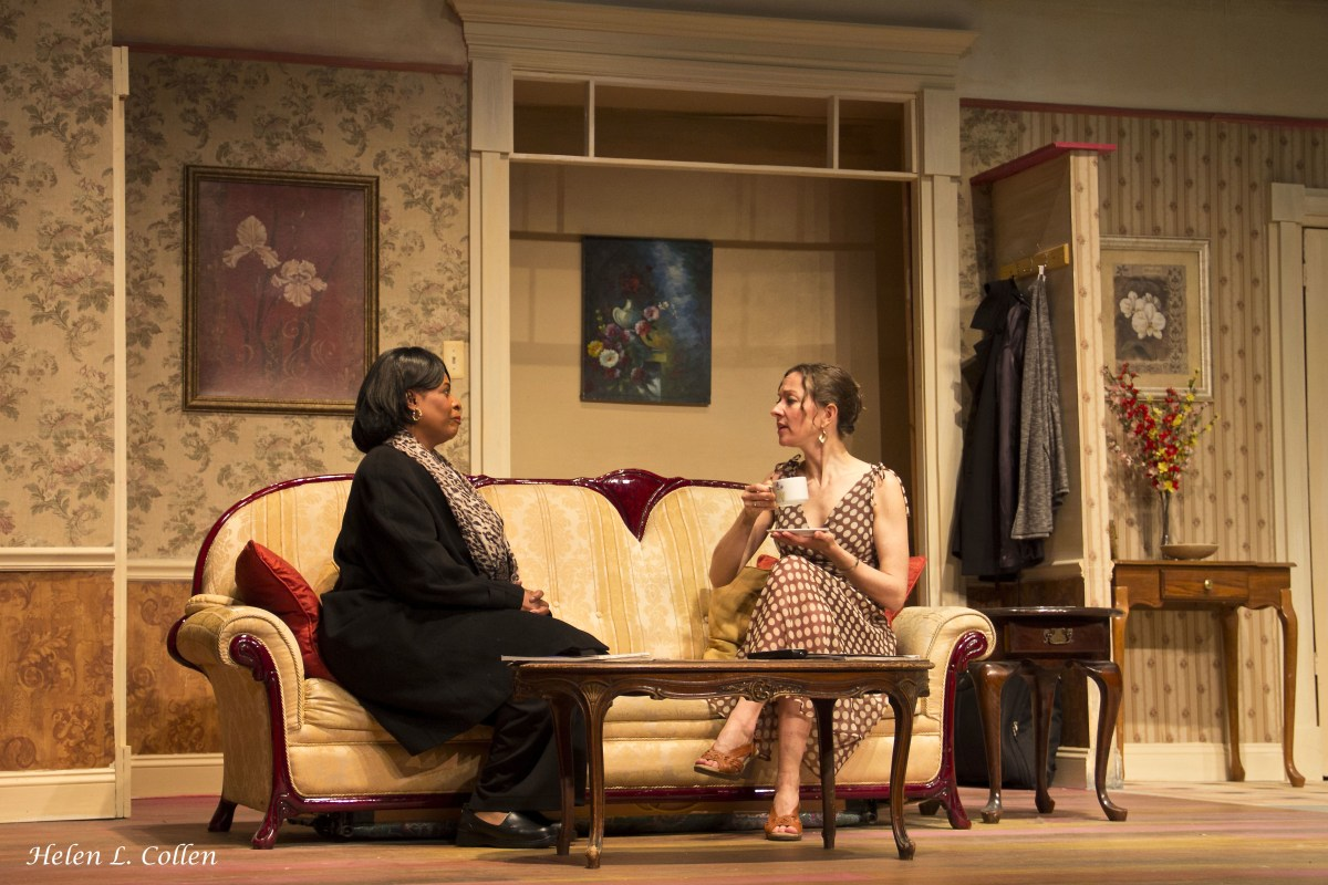 """Scottie Mills and Nicola d'Alessandro in """"Maid's Door,"""" playing now at The Billie Holiday Theatre Photo: Helen L. Collen"""