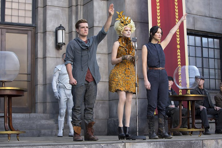 """Scene from """"Catching Fire,"""" the second film adaptation of Suzanne Collins' Hunger Games trilogy"""
